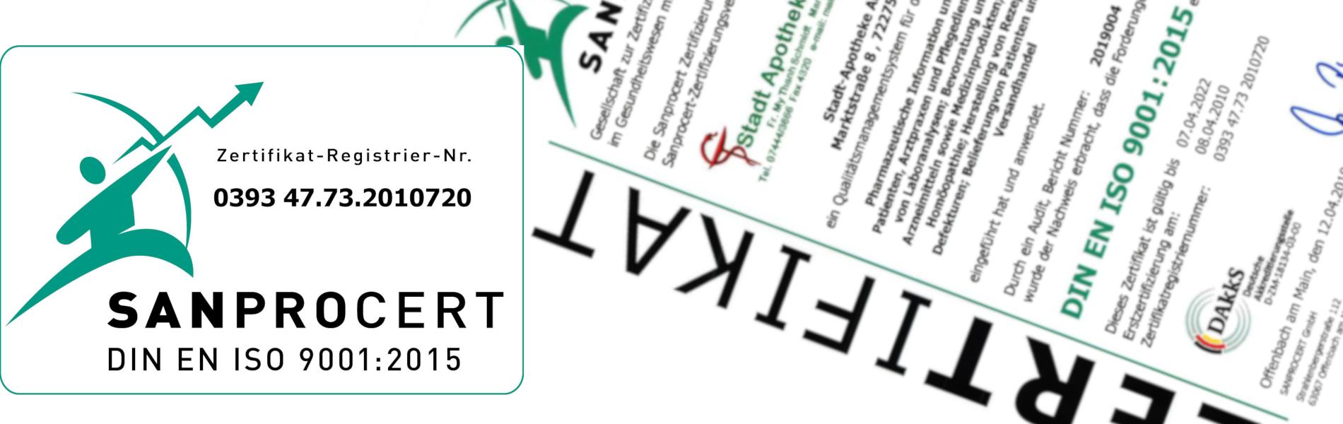 Zertifiziert nach ISO EN 9001:2015